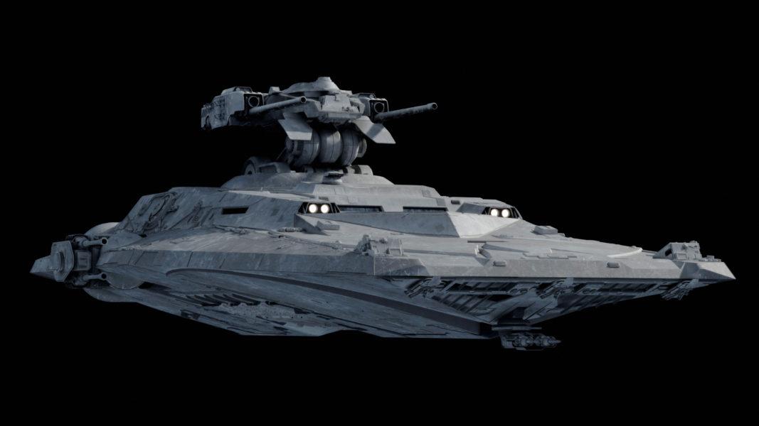 Capital Ship Starship Concept Art
